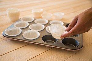 Cupcake-Formen vorbereiten