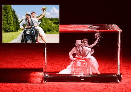 3D Laser Foto mit Hochzeitsfoto LOOXIS GmbH