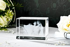 3D Laser Foto von LOOXIS als Hochzeitsgeschenk
