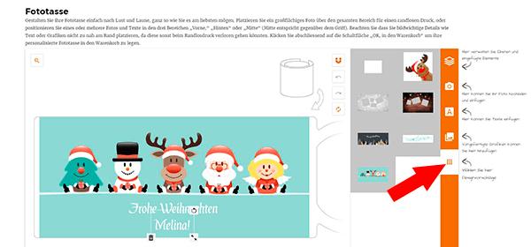 Fototasse zu Weihnachten im Online Konfigurator LOOXIS GmbH