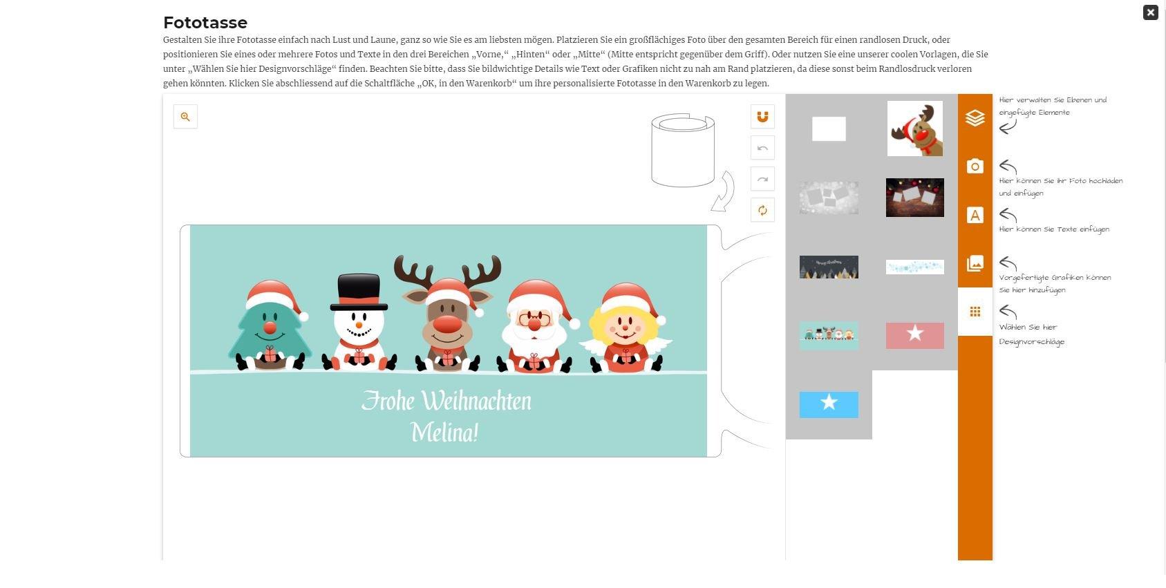 Fototasse zu Weihnachten LOOXIS GmbH
