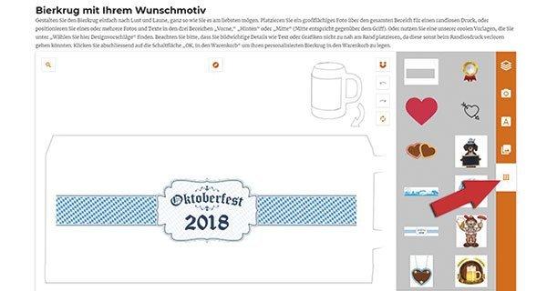 LOOXIS Online-Konfigurator Oktoberfest-Bierkrug
