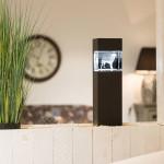 Leuchtstele für Giga Querformat, Dekor 'Pecan Black Brown'