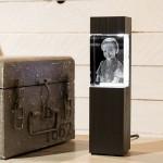 Leuchtstele für Kelo Hochformat, Dekor 'Pecan Black Brown'