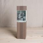 Leuchtstele für Giga Hochformat, Dekor 'Ceramic Wood'