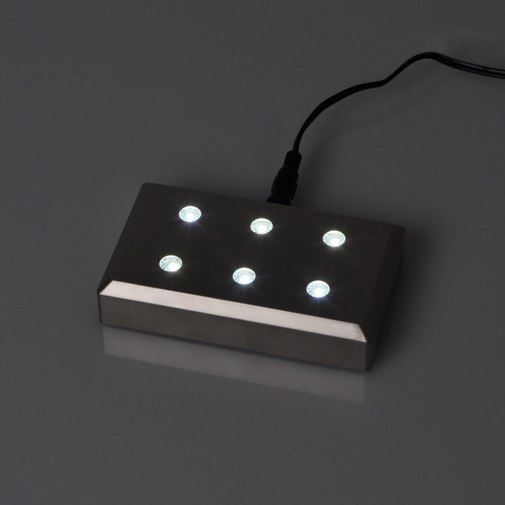 Leuchtsockel mit Netzadapter
