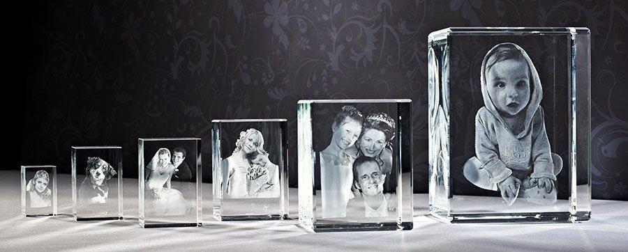 3D Fotos im Glas in verschiedenen Größen