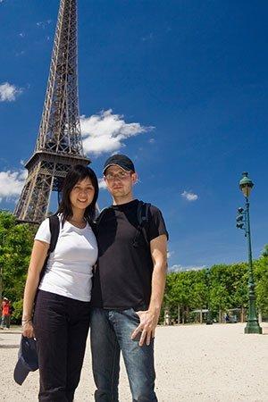 Ein Urlaubsfoto mit Eiffelturm