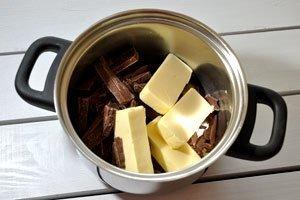 Schokolade und Butter