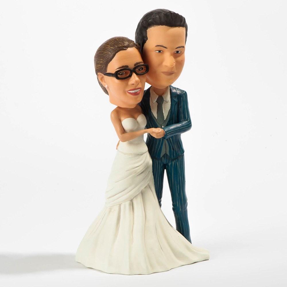 Ihr Ebenbild als 3D gedruckte Figur Hannes und Hanna Hochzeit