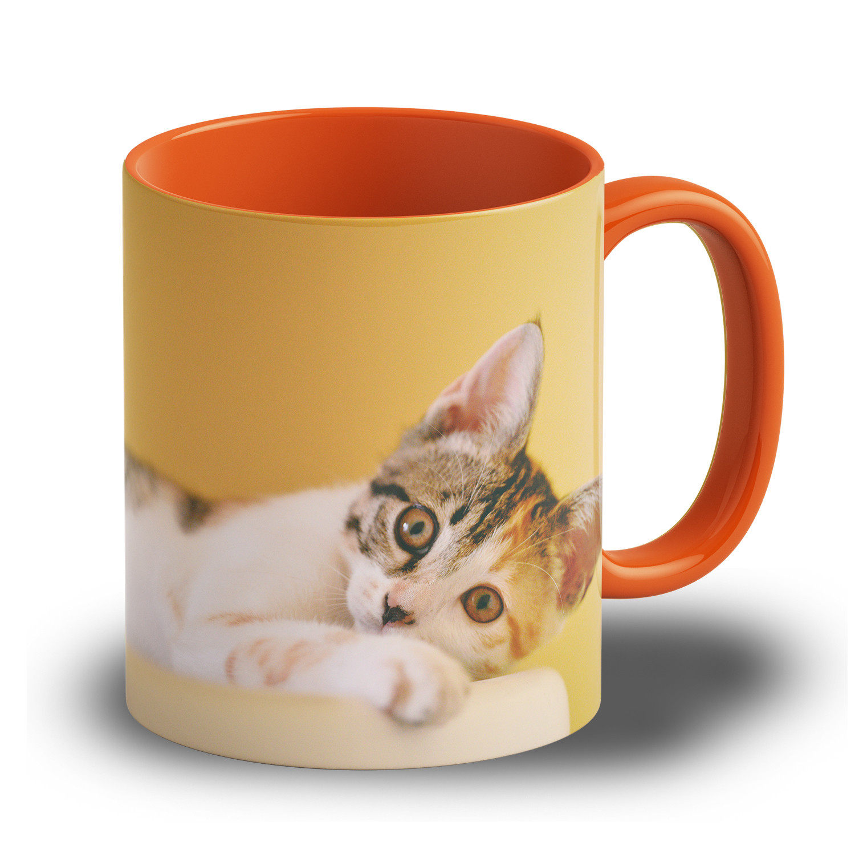"Fototasse ""Orange"" - personalisierbare Tasse"