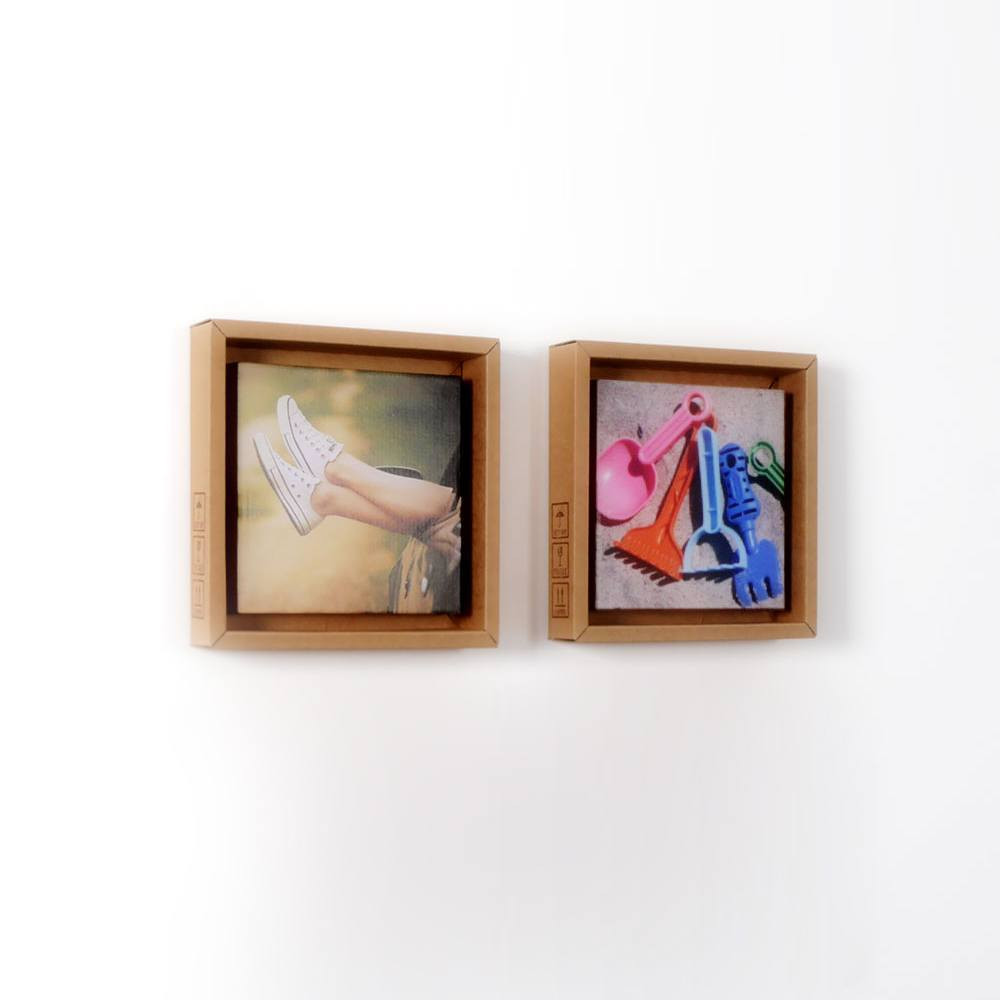 Bilderrahmen aus Pappe 2er | stylisch und recycelt » Looxis.de