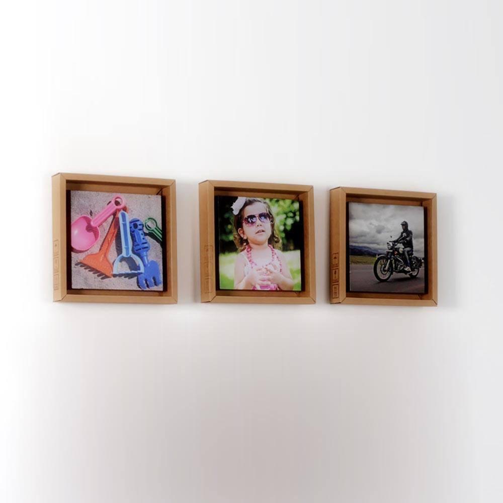 Bilderrahmen aus Pappe 3er | stylisch und recycelt » Looxis.de