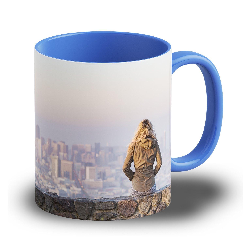 """Fototasse """"Blau"""" - Tasse mit ihrem eigenen Foto"""