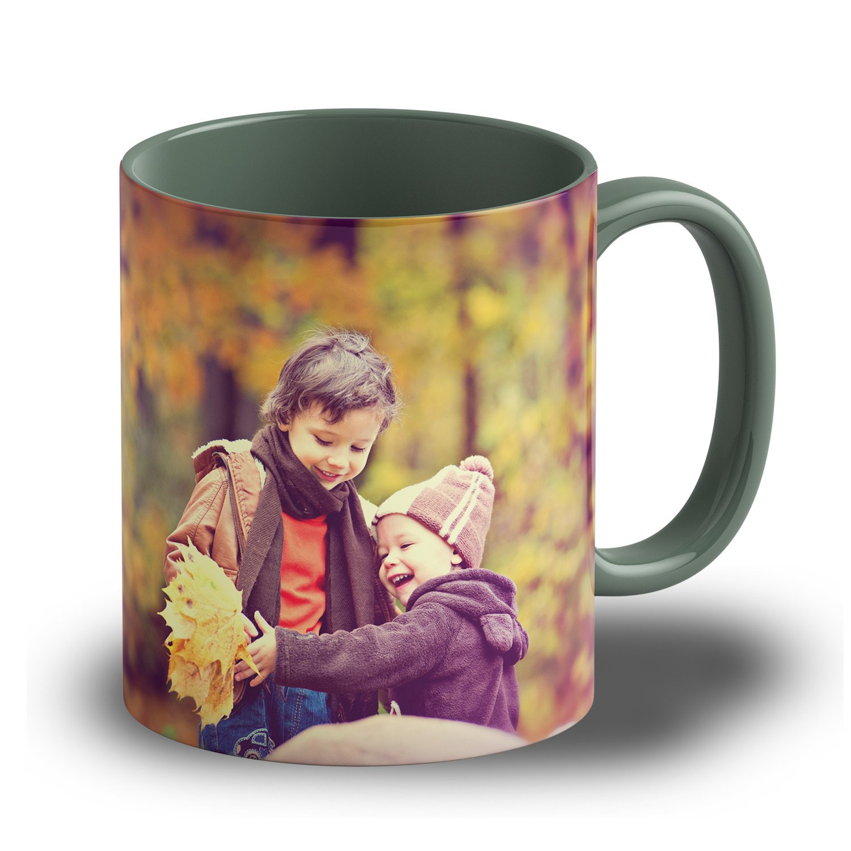 """Fototasse """"Dunkelgrün"""" - eigene Tasse mit Foto gestalten"""