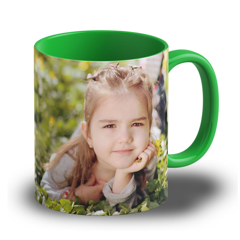 """Fototasse """"Grün"""" - eigene Tasse mit Foto gestalten"""