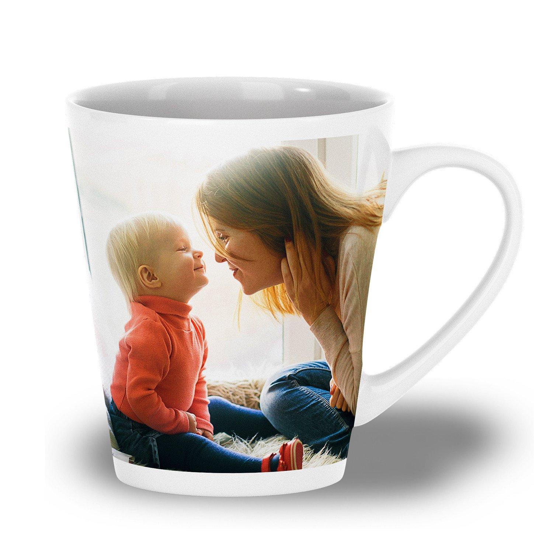 Café Latte-Tasse mit eigenem Foto oder Design