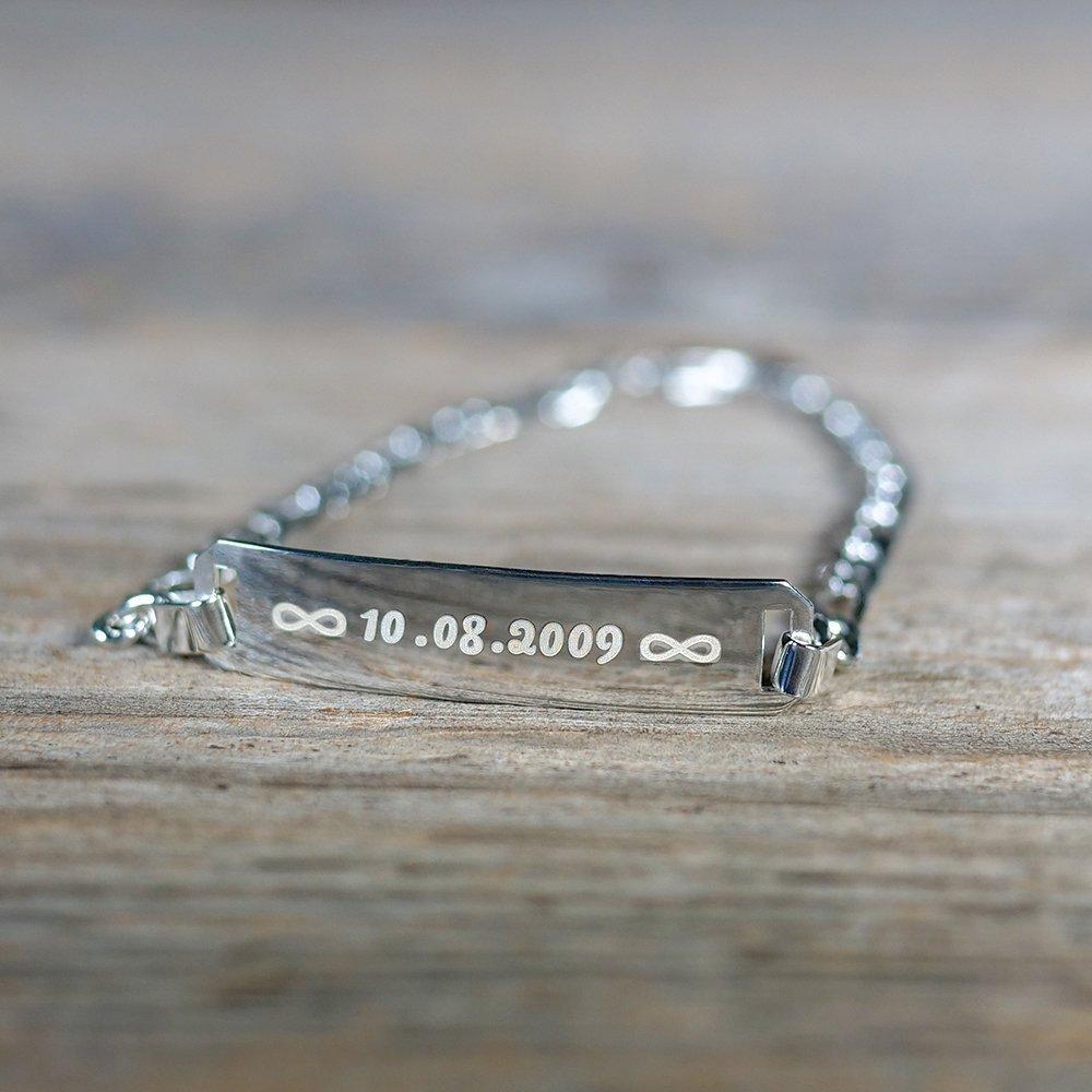 Armband mit Gravur silber aus 925er Sterlingsilber