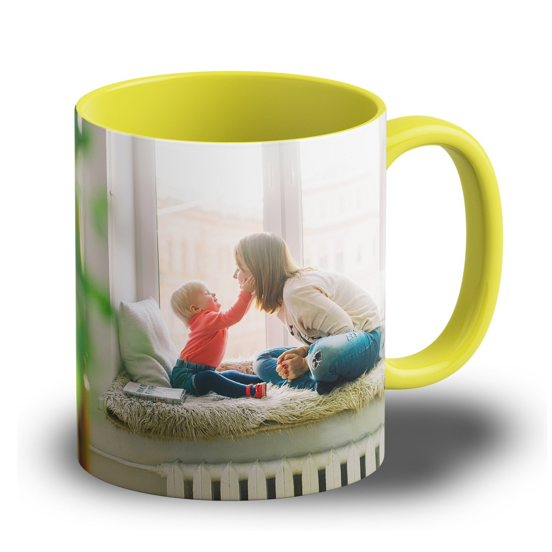 """Fototasse """"Gelb"""" - Tasse mit Foto, Logo oder Spruch bedruckt"""
