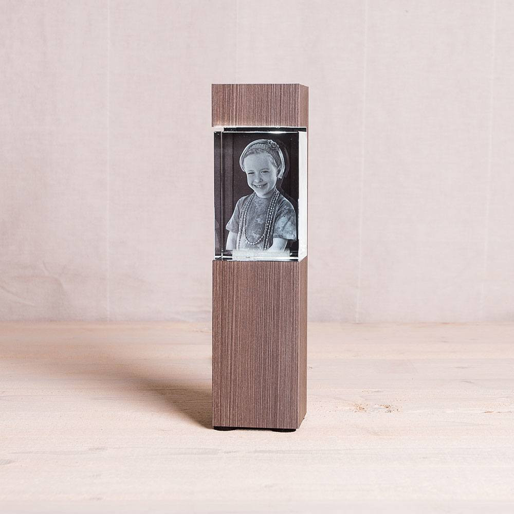 Leuchtstele für Kelo Hochformat Dekor Ceramic Wood - Das 3D Laser Foto ist nicht im Lieferumfang