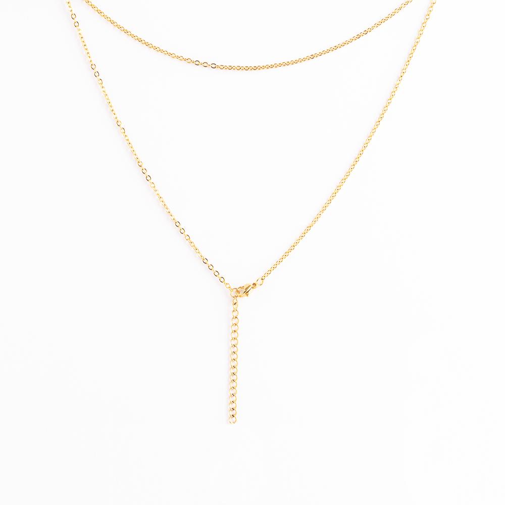 Edelstahl Ankerkette, 45 cm lang, goldfarben