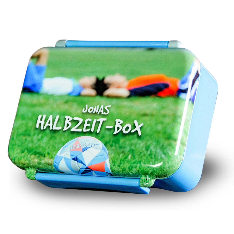 Brotdose mit eigenem Foto bedrucken lassen - blau