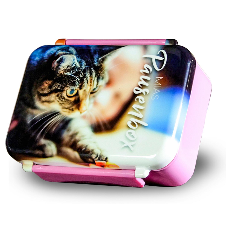 Brotdose mit eigenem Foto bedrucken lassen - rosa