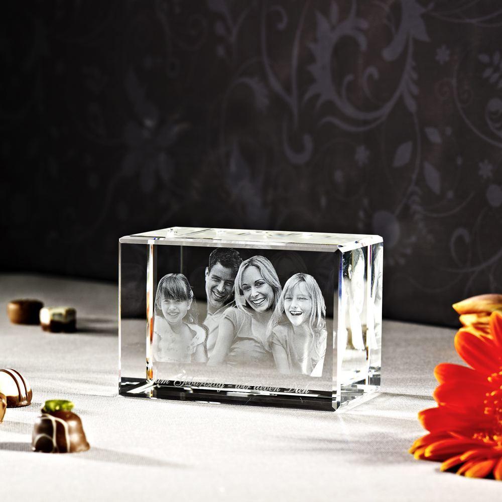 3D Foto im Glas einer Familie