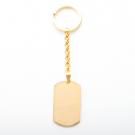 Schlüsselanhänger Edelstahl dog tag XL, goldfarben