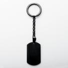 Schlüsselanhänger Edelstahl dog tag XL, schwarz