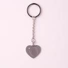 Schlüsselanhänger Edelstahl Herz mit Swarovski-Stein L, stahl