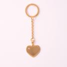 Schlüsselanhänger Edelstahl Herz mit Swarovski-Stein L, goldfarben