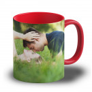 "Fototasse ""Rot"" - farbige Tasse mit eigenem Motiv bedrucken"