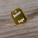 Silber-Anhänger mit Ihrer Wunschgravur - Dog Tag, vergoldet
