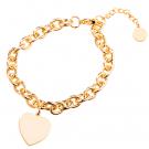 Edelstahl-Armband mit Herzanhänger für Ihr persönliches Foto, goldfarben