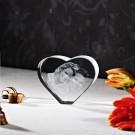3D Laser Foto im Herz M aus Viamant Glas
