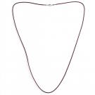 Leder Halsband, schwarz, 80 cm/2 mm