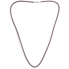 Leder Halsband, schwarz, 80 cm/3 mm