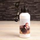 Alu Flasche mit eigenem Foto bedrucken lassen - weiss