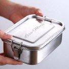 personalisierte Lunchbox aus Edelstahl 17 x 12 x 6cm, 800ml
