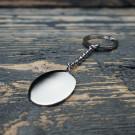 Schlüsselanhänger Edelstahl Oval L, stahl