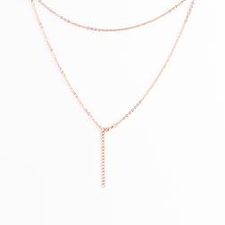 Edelstahl Ankerkette, 45 cm lang, roségoldfarben