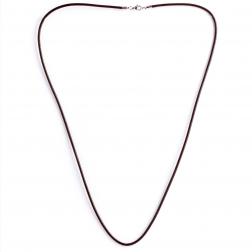 Leder Halsband, braun, 80 cm/3 mm