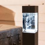 Leuchtstele für Mega Hochformat, Dekor 'Pecan Black Brown'