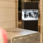 Leuchtstele für Mega Querformat, Dekor 'Pecan Black Brown'