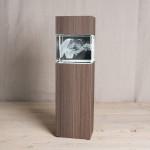Leuchtstele für Giga Querformat, Dekor 'Ceramic Wood'