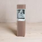Leuchtstele für Mega Hochformat, Dekor 'Ceramic Wood'