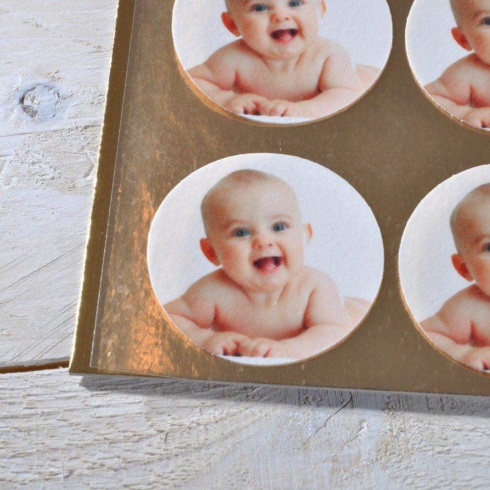 Fotoaufleger für Muffins zur Geburt