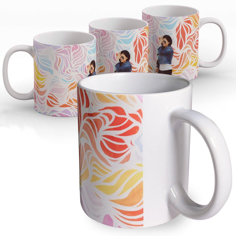 Tasse farbig bedruckt