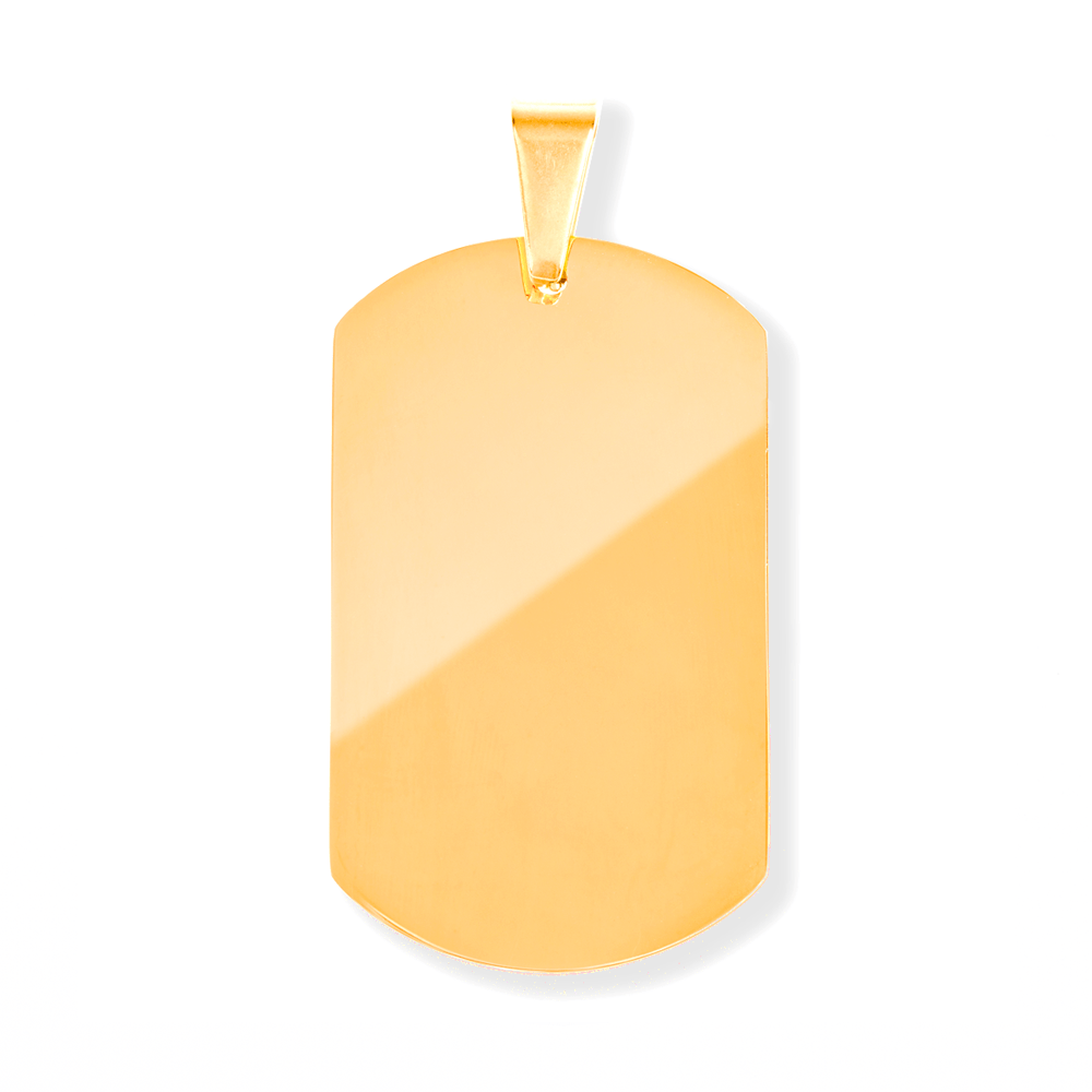 Dog Tag L goldfarben